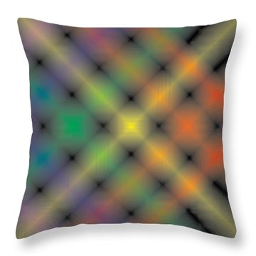 Spectral Shimmer Weave Throw Pillow