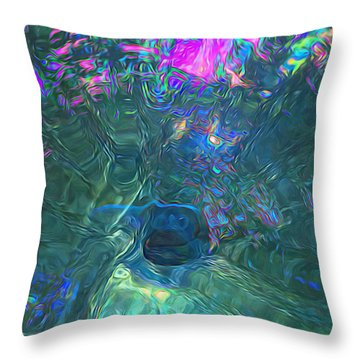 Spectral Sphere Throw Pillow
