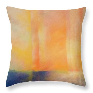Spectral Sunset Throw Pillow