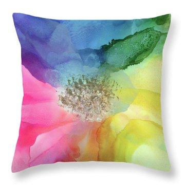 Spectrum Of Life Throw Pillow