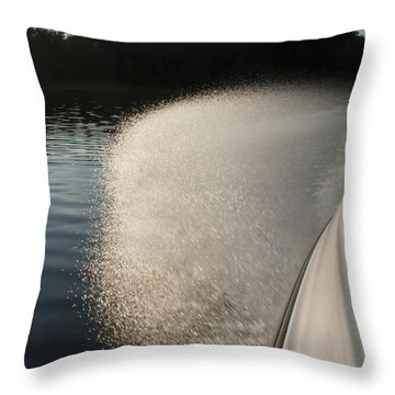 Speed Boat Throw Pillow