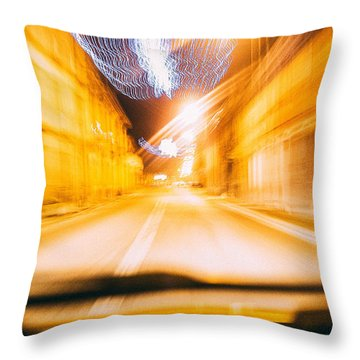 Speed Throw Pillow by Cesare Bargiggia