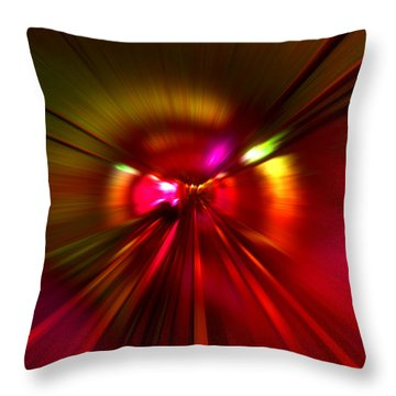 Speed - Metro Subway Train Throw Pillow