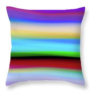 Speed Of Lights Throw Pillow
