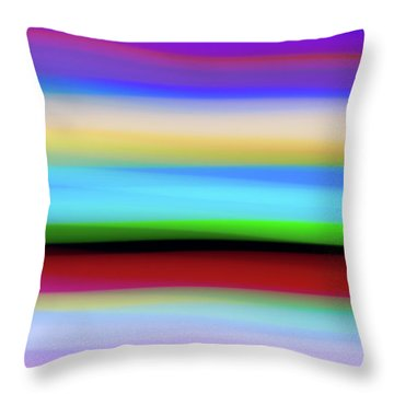 Speed Of Lights Throw Pillow