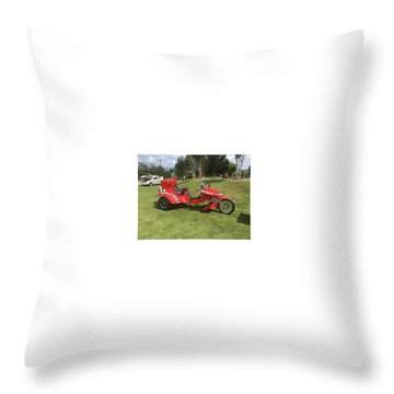Throw Pillow featuring the photograph Speed Racer Trike by Aaron Martens