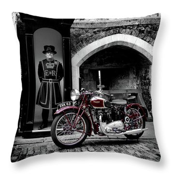 Speed Twin At The Tower Throw Pillow by Mark Rogan