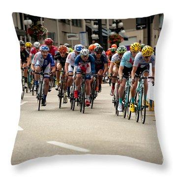 Speeding Around A Corner Throw Pillow