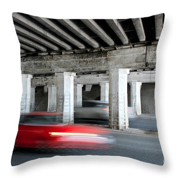 Speeding Car Throw Pillow