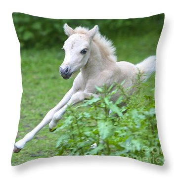 Speedy Throw Pillow by Gary Bridger