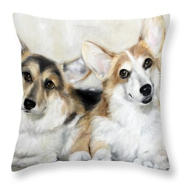 Spencer And Angus Throw Pillow