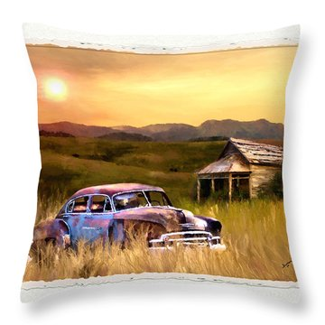 Spent Throw Pillow by Susan Kinney