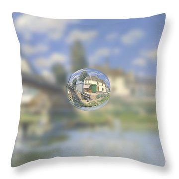 Sphere 18 Sisley Throw Pillow by David Bridburg