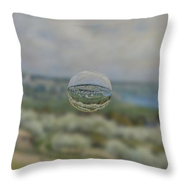 Sphere 24 Sisley Throw Pillow by David Bridburg