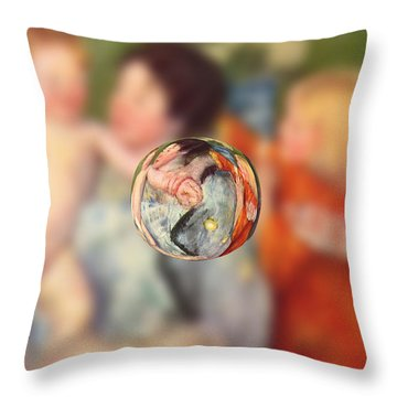 Sphere II Cassatt Throw Pillow by David Bridburg