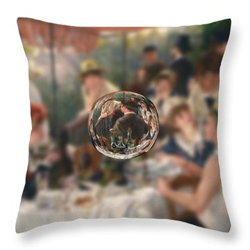 Sphere 4 Renoir Throw Pillow by David Bridburg