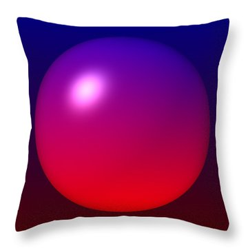Throw Pillow featuring the digital art Sphere by Lyle Hatch