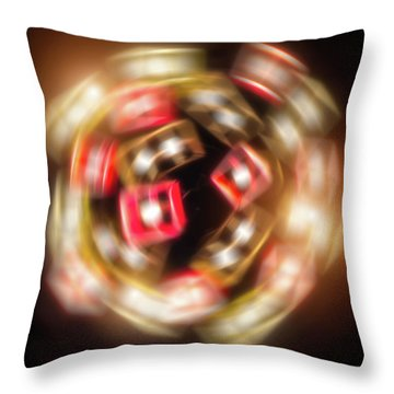 Sphere Of Light Throw Pillow by Wim Lanclus