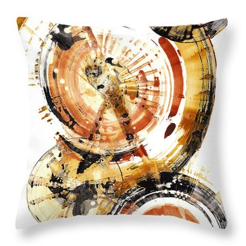 Throw Pillow featuring the painting Sphere Series 1020.050112 by Kris Haas
