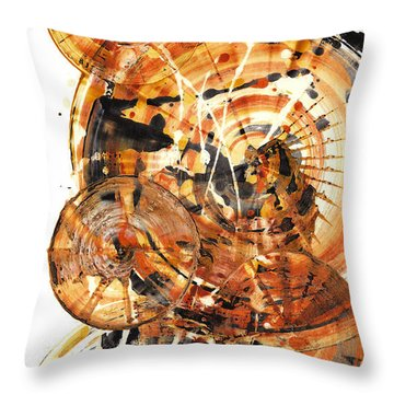 Throw Pillow featuring the painting Sphere Series 1021.050212 by Kris Haas