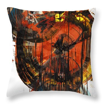 Throw Pillow featuring the painting Sphere Series 1023.050312 by Kris Haas