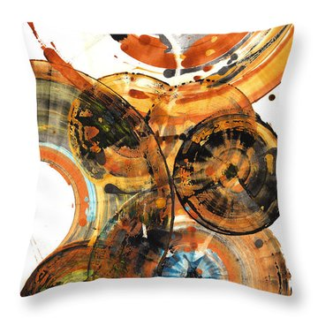 Throw Pillow featuring the painting Sphere Series 1024.050312 by Kris Haas