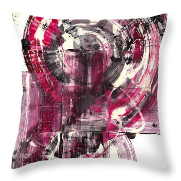 Throw Pillow featuring the painting Sphere Series 1026.050412 by Kris Haas