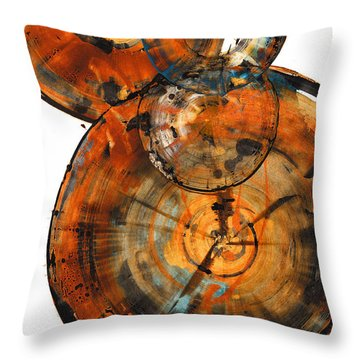 Throw Pillow featuring the painting Sphere Series 1027.050412 by Kris Haas