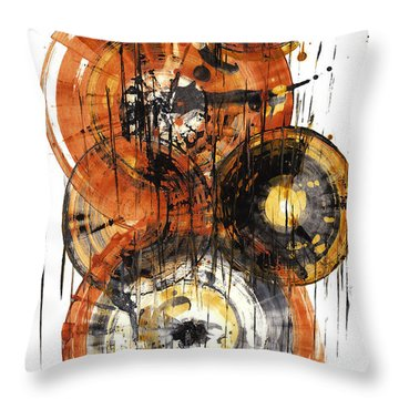 Throw Pillow featuring the painting Sphere Series 1028.050412 by Kris Haas