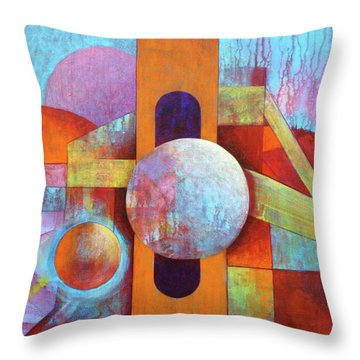 Spheres And Beams Throw Pillow by J W Kelly