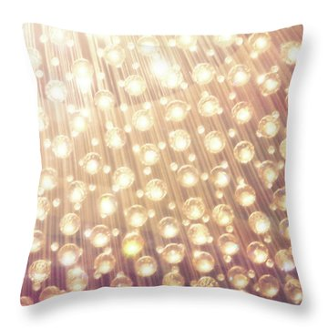 Spheres Of Light Throw Pillow
