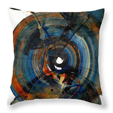 Throw Pillow featuring the painting Spherical Joy Series 03.030211 by Kris Haas