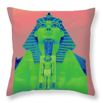Sphinx And Pink Sky Throw Pillow