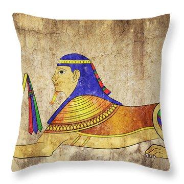 Sphinx Throw Pillow by Michal Boubin