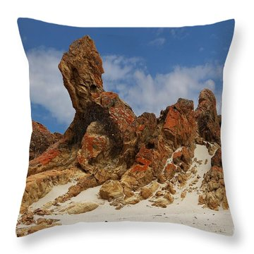 Throw Pillow featuring the photograph Sphinx Of South Australia by Stephen Mitchell