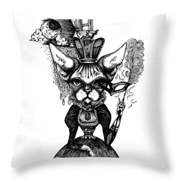 Sphynx Queen Throw Pillow