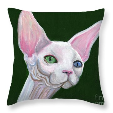 Sphynx2 Throw Pillow