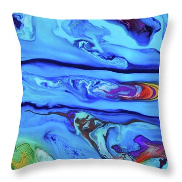 Sphyrna Throw Pillow by Angel Ortiz
