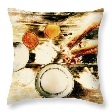 Spice Brown  Throw Pillow