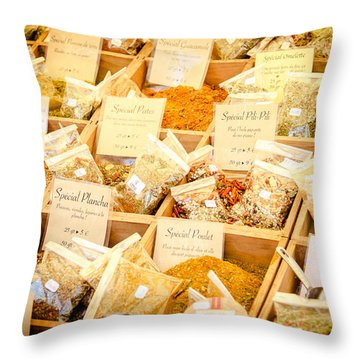 Throw Pillow featuring the photograph Spice Of Life by Jason Smith
