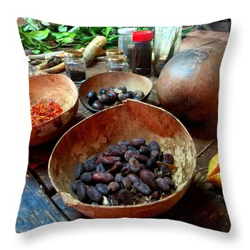 Throw Pillow featuring the photograph Spice Of Life by Jean Marie Maggi