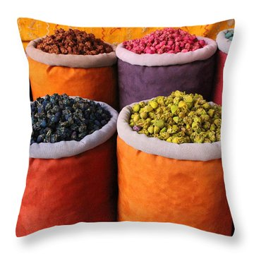 Throw Pillow featuring the photograph Spice Rainbow by Ramona Johnston