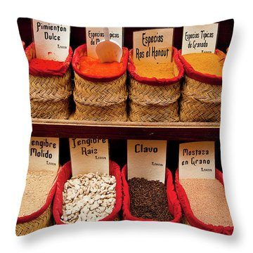 Throw Pillow featuring the photograph Spices  by Harry Spitz