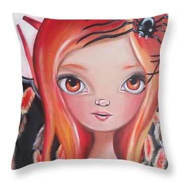 Spider Fairy Throw Pillow by Jaz Higgins