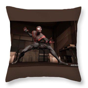 Spider-man Edge Of Time Throw Pillow