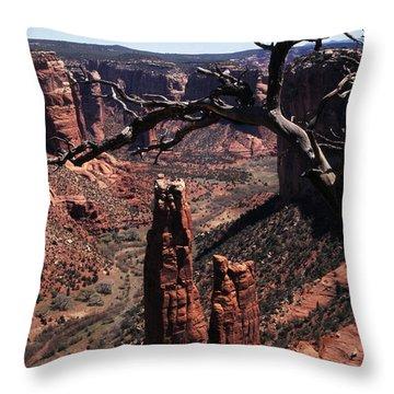 Spider Rock Throw Pillow by Thomas R Fletcher