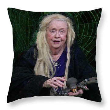 Spider Woman Throw Pillow by David Clanton