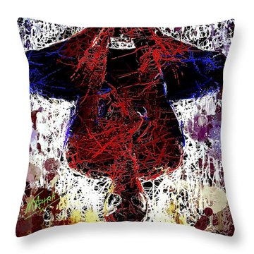 Spiderman Hanging Around Throw Pillow
