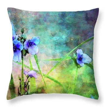 Spiderwort Dance 0115 Idp_2 Throw Pillow