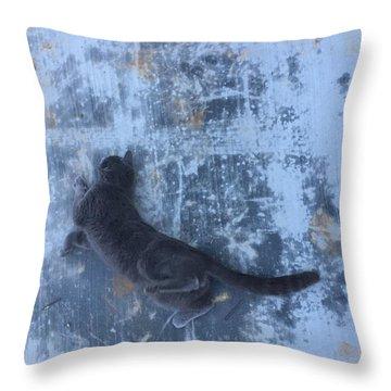 Spidey Throw Pillow by M Stuart